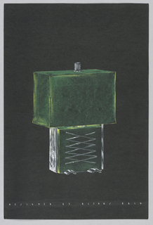 Drawing, Table lamp with green bas