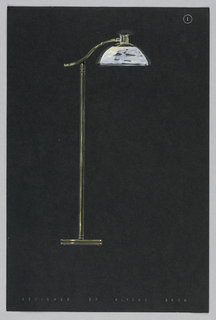 Drawing, 1. Floor lamp with white