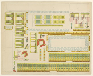 Cut-out, The Little Model Maker: Horticultural Hall, Centennial International Exhibition 1876, Philadelphia