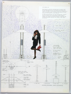 Drawing, Design for Self-Powered L, 1992