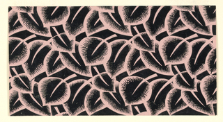 Drawing, Textile Design: Stylized Leaves, 1940s