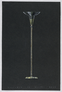 Drawing, Floor lamp with conical/s
