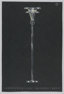 Drawing, 25. Floor lamp with white