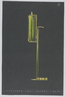 Drawing, 11. Floor lamp with verti