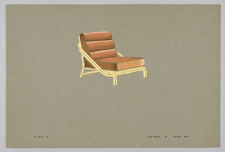 Drawing, 6. Bamboo side chair with