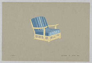Drawing, 1. Bamboo armchair with b