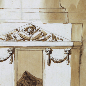 Drawing, Funeral Decorations for King Louis XVI of France