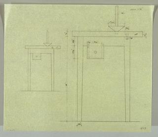 Drawing, Candela Tavola: Two Eleva, 1989
