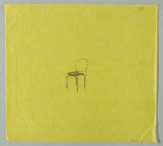 Single study for a chair at center of page.