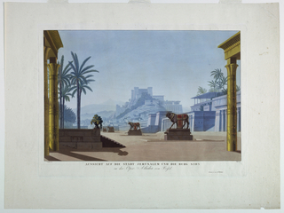 Print, Stage Design: Jerusalem and Mount Zion, for Athalia