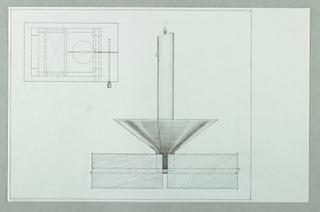 Drawing, Candela Tavola: Plan and, 1989