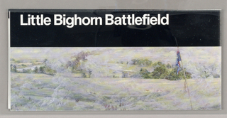 Map, Little Bighorn Battlefiel