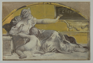 Drawing, Study for Tympanum in Honor of Cicero, late 19th century