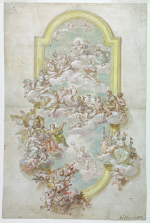 Drawing, Ceiling with Jupiter, Jun, 1718–30