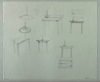 Drawing, Studies for Candela Tavol, 1989