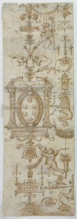 Drawing, Design for Stained Glass in the Laurentian Library, Florence, Italy