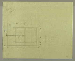 Drawing, Candola Tavola: Plans wit, 1989