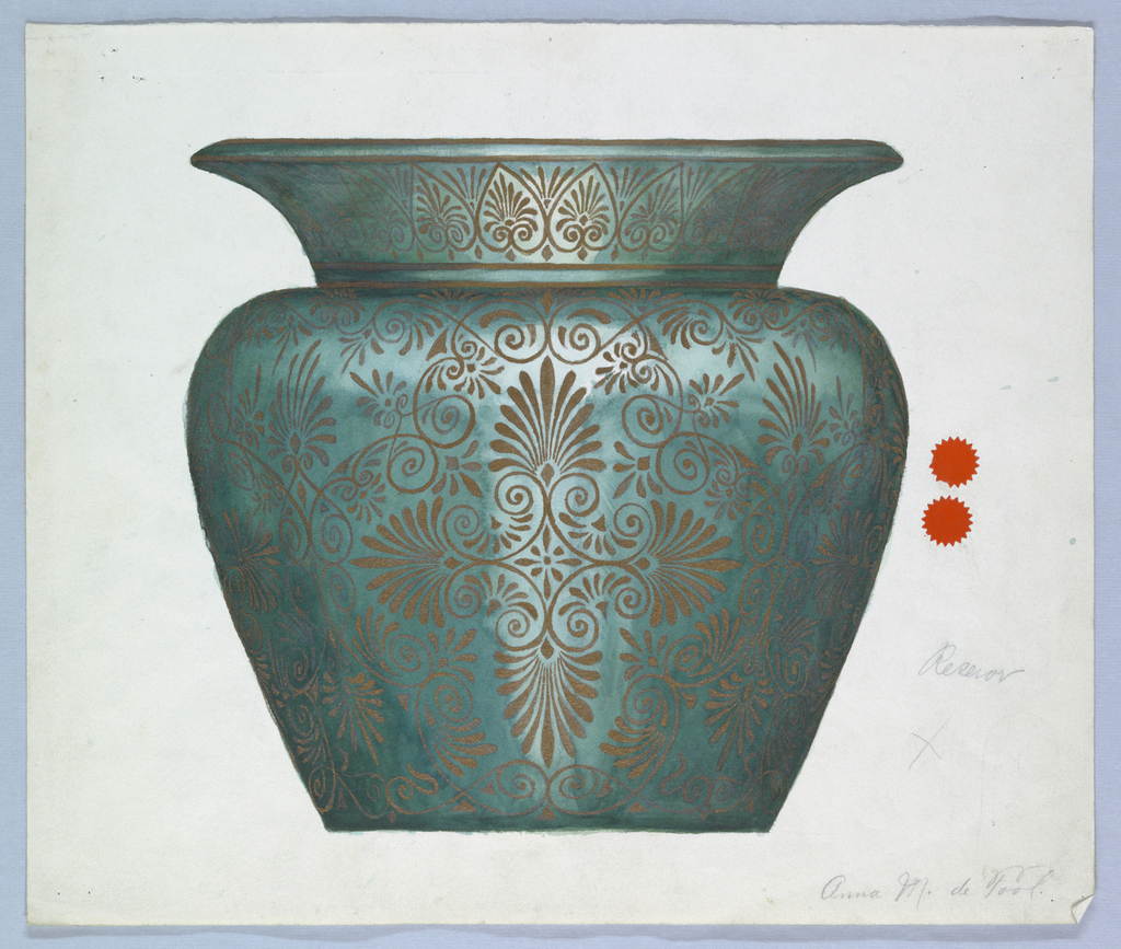 Drawing, Design for a Vase, ca. 1895