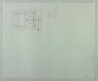 Drawing, Candela Tavola: Plan with, 1989