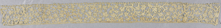 Needle lace; mid-17th century Point Plat de Venise