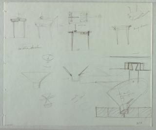 Drawing, Studies for Candela Tavol, 1989