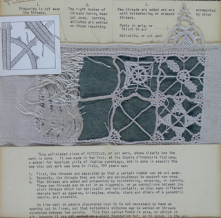 Band, Cooper Union Museum Lace Study Card
