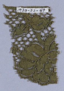 Green lace edging in a floral pattern.