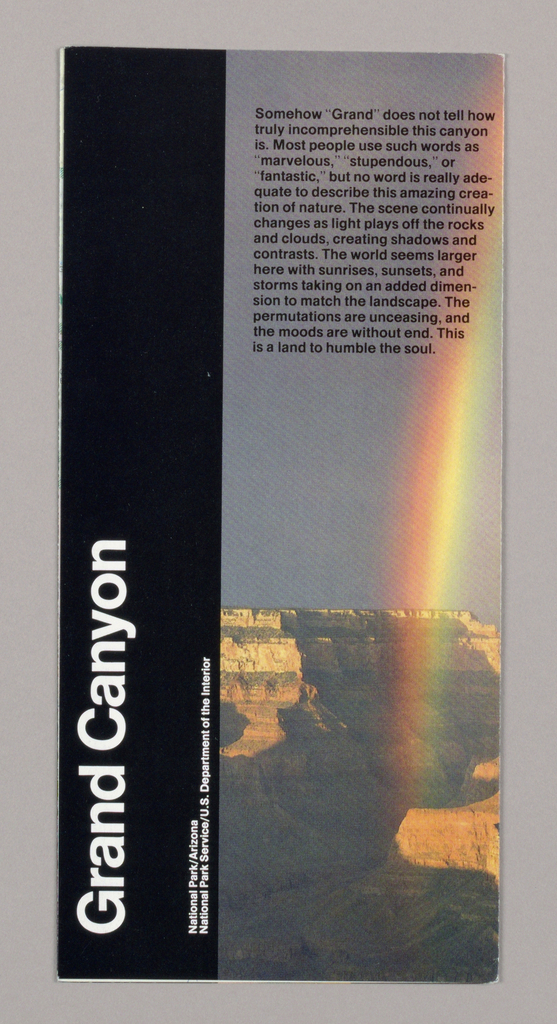 Map, Map for National Parks Service: Grand Canyon, 1991