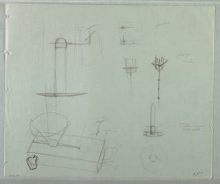 Drawing, Preliminary Studies for C, 1989