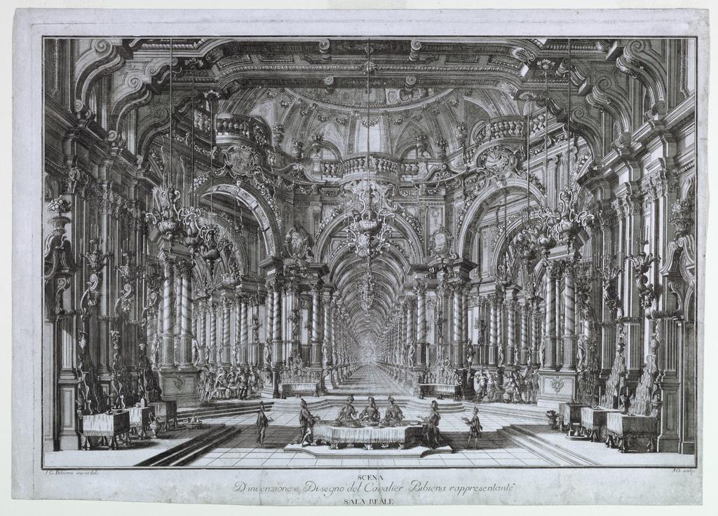 Print, Stage Design: A Banquet Hall, 1740–44