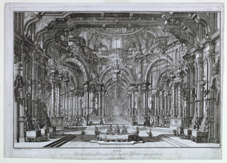 Print, Stage Design: A Banquet Hall, 1740–44