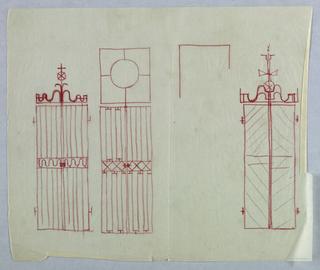 3 designs for metal gates.