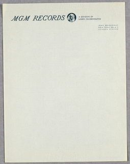 Letterhead, MGM Records