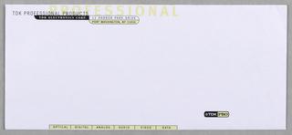 Envelope, TDK PRO Division, ca. 1990–95