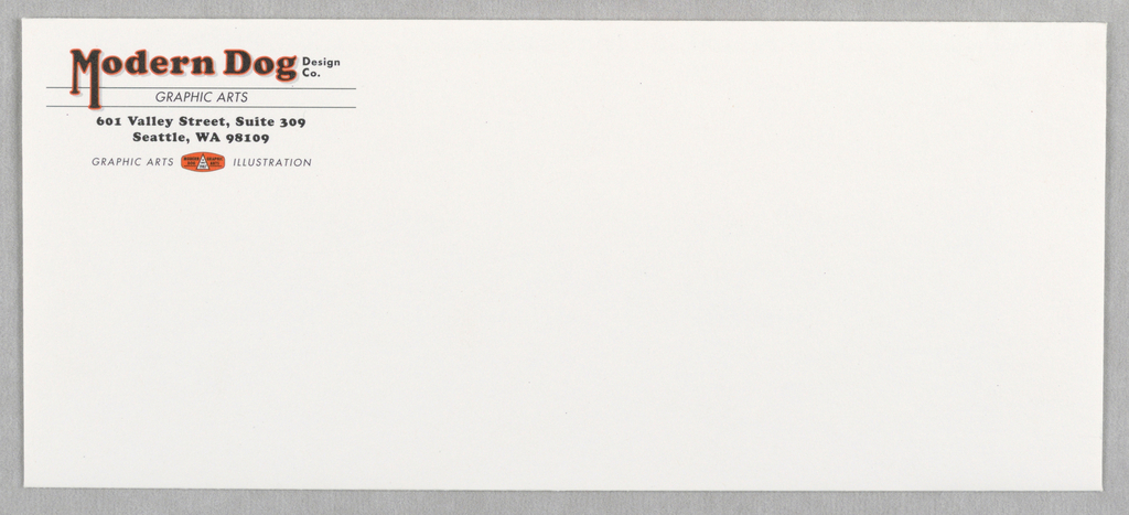 Print/business Envelope, Business Envelope: Modern, ca. 1993
