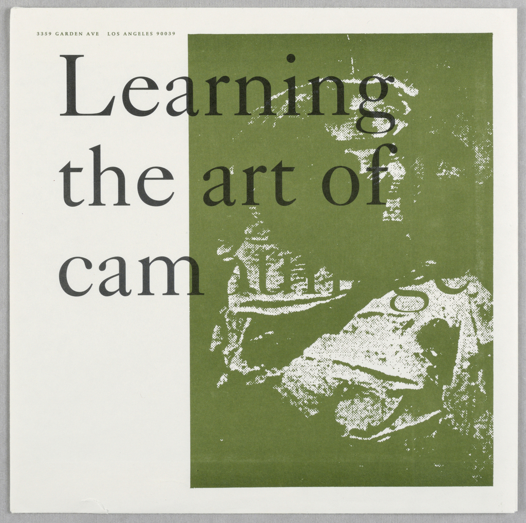 "Print/ephemera, ""Learning the Art of Camo, 1992"