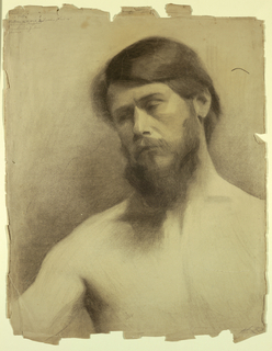 Partial sketch of a male figure.