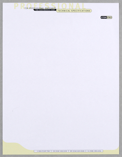 Letterhead, TDK PRO Division, ca. 1990–95