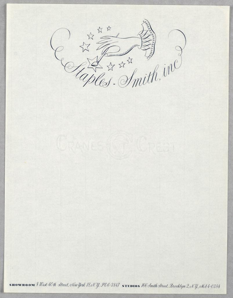 Letterhead, Staples-Smith, Inc.