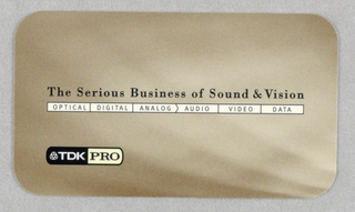 Business Card, TDK PRO Division