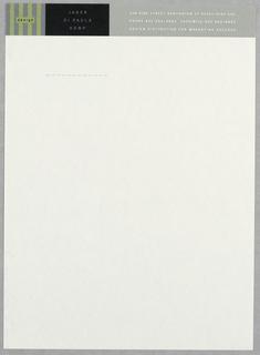 Letterhead, Jager Di Paola Kemp, 1993
