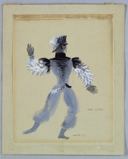 Drawing, Costume Design: King of the North, for The Prince of the Pagodas, 1957