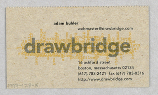 Business Card, Drawbridge