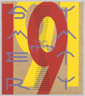"Print/ephemera, ""SOS: Art is Harmony"": Su, 1991"