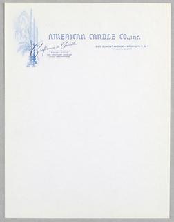 Letterhead, American Candle Co., Inc.