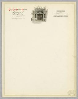 Letterhead, The De Vinne Press