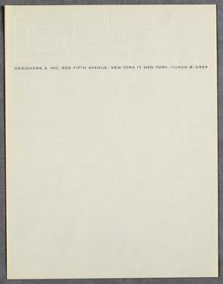 Letterhead, Designers 3, Inc.