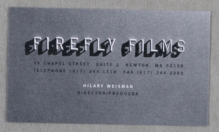 Business Card, Firefly