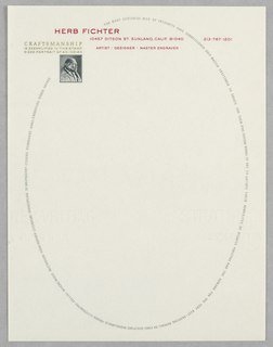 Letterhead, Herb Fitcher