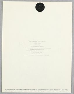 Letterhead, Janus Museum Consultants Limited